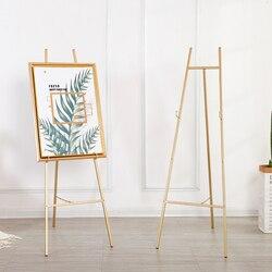 Golden Schildersezel Bruiloft Schildersezel Caballete De Pintura Metalen Foto Stand Photo Display Frame Nordic Stijl Olieverf Stand