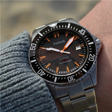 Parnis Automatic Diver Watch Waterproof 200m Metal Mechanical