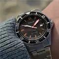 Parnis, reloj de buceo automático, resistente al agua, 200 m, Metal mecánico, relojes para hombre, cristal de zafiro, mekanik kol saati relogio automatico