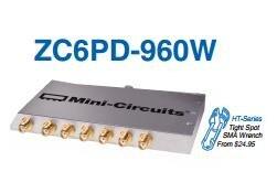 [BELLA] Mini-Circuits ZC6PD-960W-S+ 700-1000MHz Six SMA Power Divider