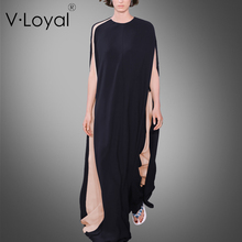 Season, new fashion, loose cloak dress, European and American custom matching long dress pendant dress.