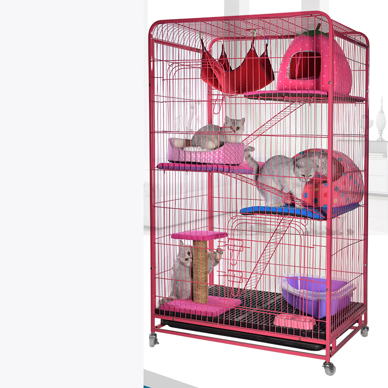 lk1612-eco-friendly-paited-metal-pet-cage-234-layers-large-space-pet-kennel-multilayer-pet-villa-easy-install