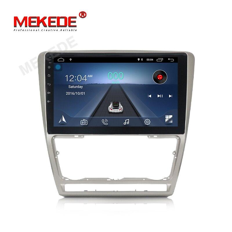Lecteur multimédia de voiture DVD GPS MEKEDE Android8.1 pour SKODA Octavia 2 2011-2013 A5 lecteur Audio de Radio de Navigation dvd de voiture