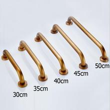 Antique Brass Bathroom 30/40/50cm Grab Bar Shower Safety Handle Bars Toilet Safety Rails Straight Bathtub Safety Rails