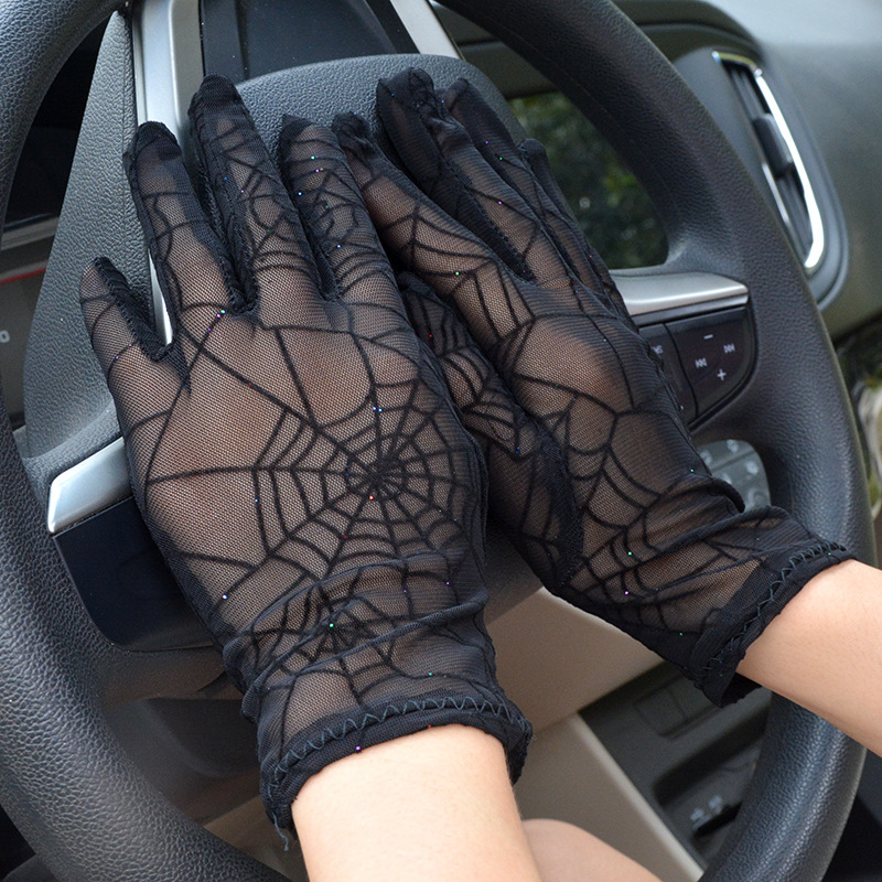 2018 Summer Full Finger Women Gloves Thin Fashion Scar Cover Driving Gloves Sexy Ladies Dance Gloves Female Wrist Mittens AGB240