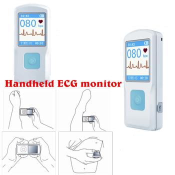 CONTEC PM10 przenośna maszyna EKG EKG opieka domowa kolorowy Monitor EKG ręczna maszyna serca BT USB PC Software tanie i dobre opinie CHINA Elektroniczne urządzenie do pomiaru tętna