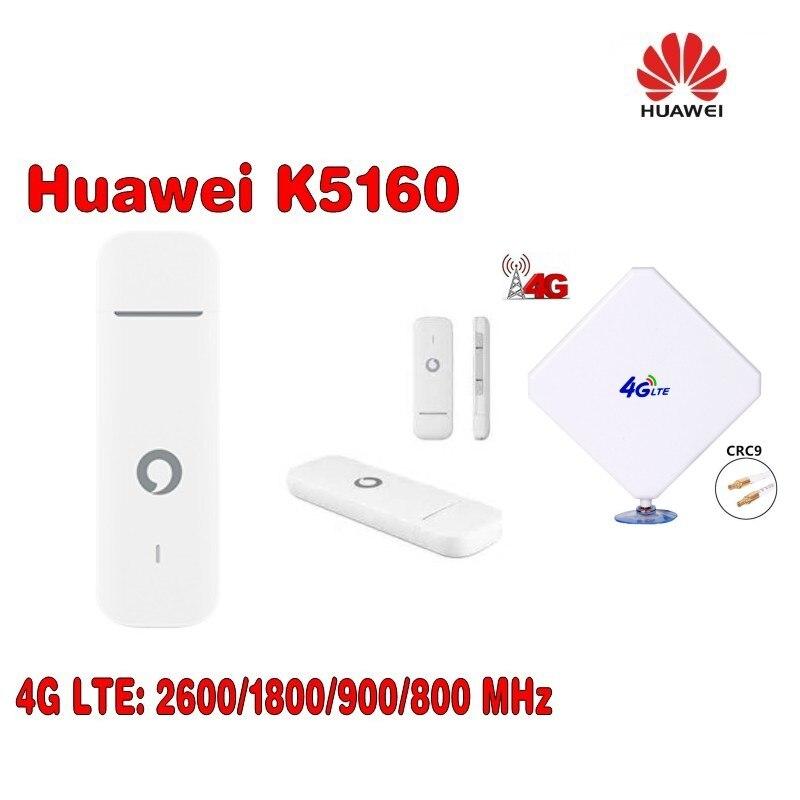 Vodafone K5160 HUAWEI 4G usb dongle 150 Mbps plus avec 4G LTE CRC9 connecteur 4G antenne 35dbi Booster
