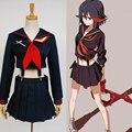 Matar la matar ryuko matoi japonês anime cosplay do partido de halloween trajes para mulheres girls dress custom made frete grátis