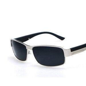 Image 1 - 高品質の正方形サングラス偏駆動なサングラス男性送料無料 UV400 HD 快適なサングラス男性