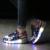 Meninas Sapatilhas com Rodas De Rolo Crianças Iluminar Sapatos Meninos Brilhantes Rosa Estilo Estrela Preto zapatillas tenis levou infantil rodinha