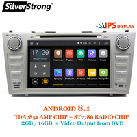 SilverStrong 8 дюймов панель IPS DDR3 Android8.1 dvd плеер для Toyota Camry v40 2007 2011 Поддержка TPMS сигнализации DAB БД DVR
