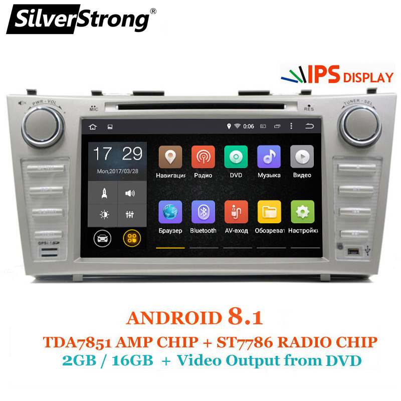 SilverStrong 8 pollici IPS Pannello DDR3 Android8.1 Lettore DVD Dell'automobile per Toyota Camry v40 2007-2011 supporto TPMS Allarme DAB OBD DVR