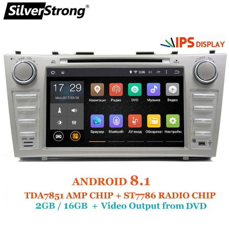 SilverStrong 8 pouces IPS Panneau DDR3 Android8.1 Lecteur DVD de Voiture pour Toyota Camry v40 2007-2011 soutien TPMS D'alarme DAB OBD DVR