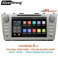 Silverstrong 8 дюймов панель IPS DDR3 Android8.1 машинный DVD проигрыватель для Toyota Camry v40 2007 2011 Поддержка сигнализации TPMS DAB OBD DVR