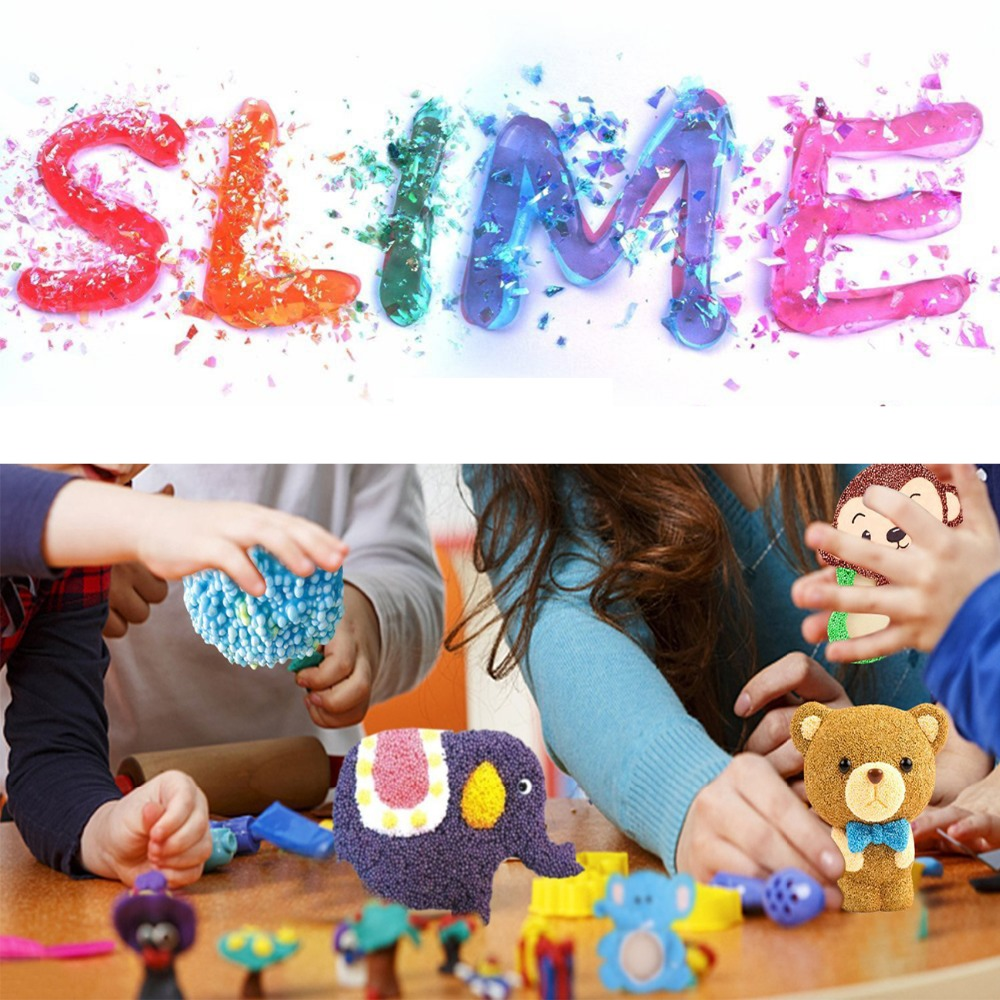 58pcs Dushi Beginners Slime Supplies Kit Confetti Star Heart Sprinkles DIY Slime Decoden Craft Supplies Assorted Jewelry Display