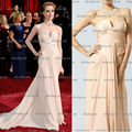 2013 new Elie Saab Strapless Evan Rachel Oscar Red carpet celebrity dress notched neckline Pink Prom Gown Evening dress train