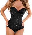 Fashion Luxurious Women Corsets And Bustiers Sexy Lace Corselet Lingerie Plus Size Corset 8 Color