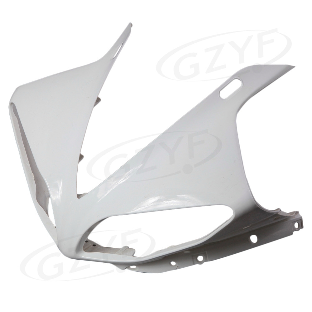 Unpainted Upper Front Fairing Cowl Nose Fits for Yamaha 2009 2010 2011 2012 YZF R1 Injection ABS Plastic unpainted front nose top fairing for triumph daytona 675 2009 2012 10 11 upper cowl
