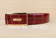 Like  crocodile pin buckle Leather Belt ;2013 New Style For Men The 100% Cowhide Brand and women