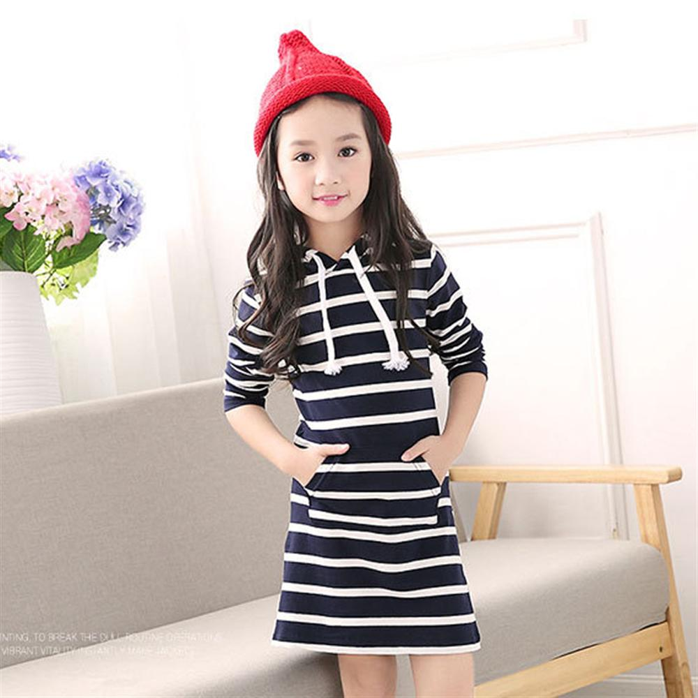Fashion Striped Girls Dress New Long Sleeve Kids Clothes Spring Autumn Baby Girls Causal Children Dress 3 4 5 6 7 8 9 10 Years teenage girls plaid clothes autumn girl dress long sleeve children dress kids dresses for girls size 3 4 6 7 8 9 10 11 12 13 14