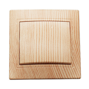 Light switch 2019 New design EU Standard Wall Switch wood color, 1 Gang 1 Way Switch with indicater  LZ-03 7
