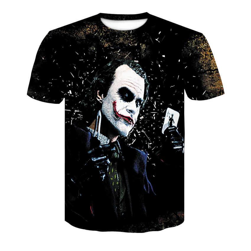 Харадзюку Джокер покер 3D печать крутая футболка для мужчин с коротким рукавом летние топы футболки Модная футболка