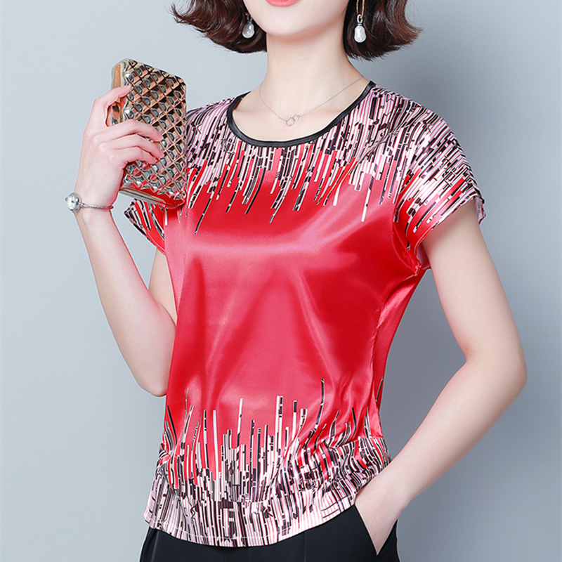 Korean Fashion Silk Women Blouse Summer Loose Basic Satin Shirts Work Wear Blusas Feminina Tops Shirts Plus Size XXXL