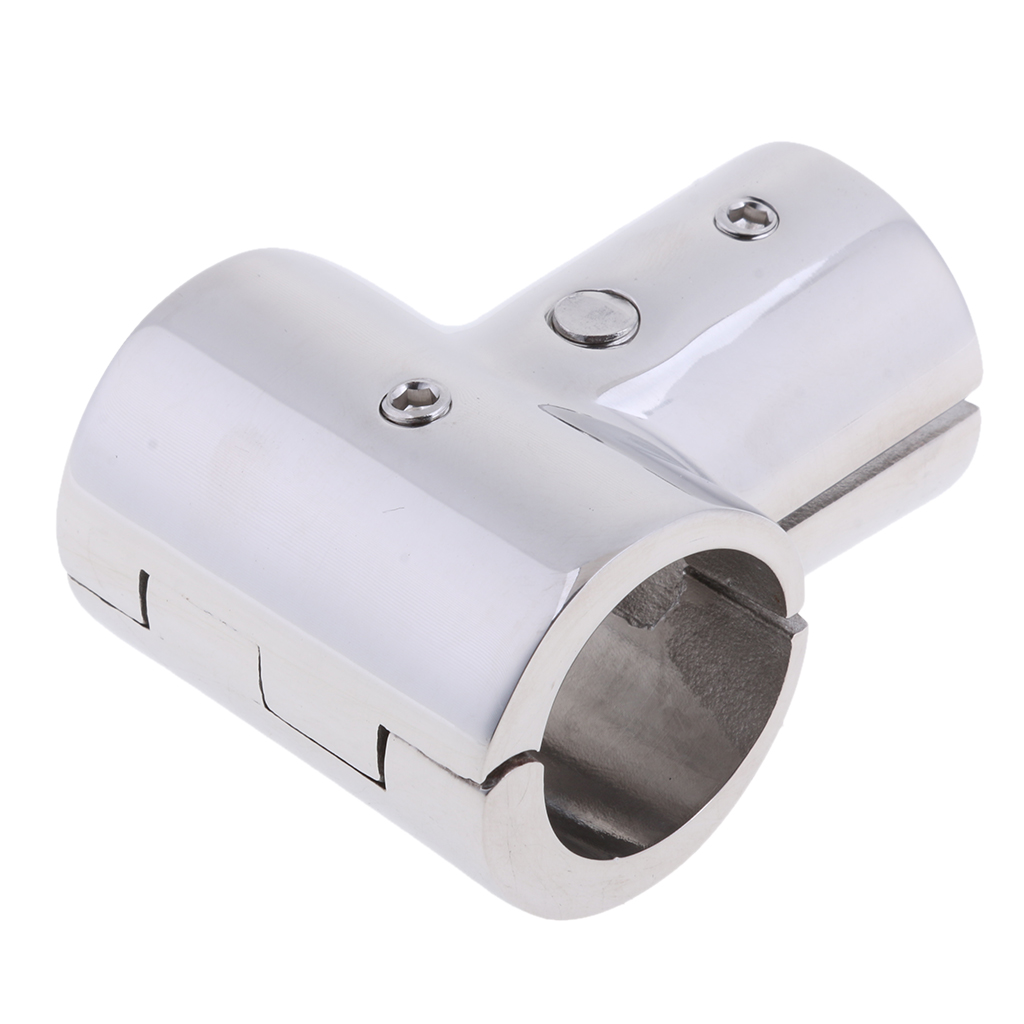 Heavy Duty 316 SS Boat Hand Rail Fitting- 90 Degree T/Tee Hinged/Split for 1 inch Tube