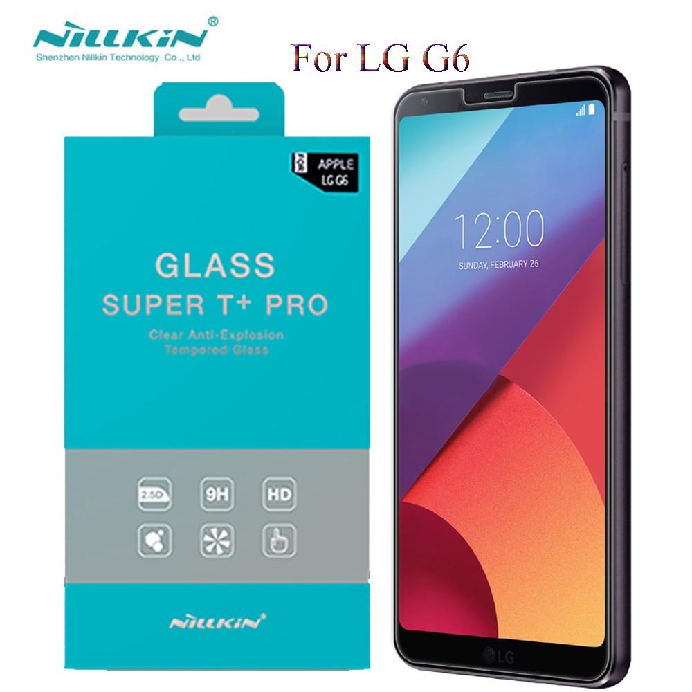 imágenes para Nillkin de la sfor LG G6 Glass 2.5D Vidrio Templado Para LG G6 Protector de Pantalla Transparente Película Protectora y 2 UNIDS Lente de La Cámara vidrio