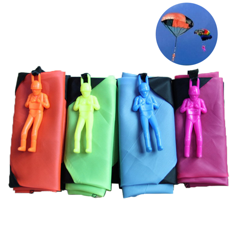 10Pcs Hand Throwing Parachute Outdoor Fun Sports Play Game for Childrens Educational Toys Mini Parachute Toy Soldier For Family
