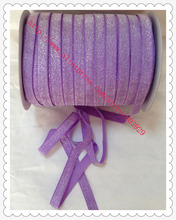 50yards lot Non stretch 1 5 Frosted Hyacinth Glitter Ribbon