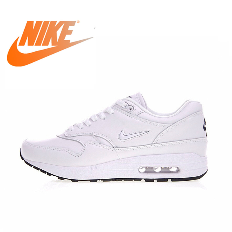 "Original Authentic Nike Air Max 1 Premium SC ""Jewel"" Men's Running Shoes White Sports Outdoor Sports Shoes EUR Size 918354-105"
