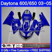 Body For Triumph Daytona600 Daytona 650 02 03 04 05 Glossy blue 125HM12 Daytona650 Daytona 600 2002 2003 2004 2005 Fairing kit