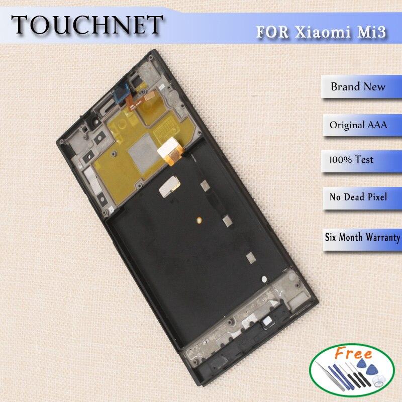 Frete Grátis Display LCD Com tela de Toque Digitador de Vidro + Quadro  Assembléia Para Xiaomi Mi3 50e6ba15689