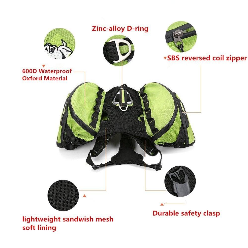 Truelove dwa używane plecak dla psa szelki wodoodporna odkryty Camping szkolenia turystyka Multi dzień Backcountry plecak na zwierzę dla psów w Przewóz psów od Dom i ogród na  Grupa 2