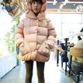 Sweet Children Coat Winter 2017 New Fashion Girl Clothes Hooded Winter Jacket Kids Thick Cotton Warm Coats Padded Clothing T2818