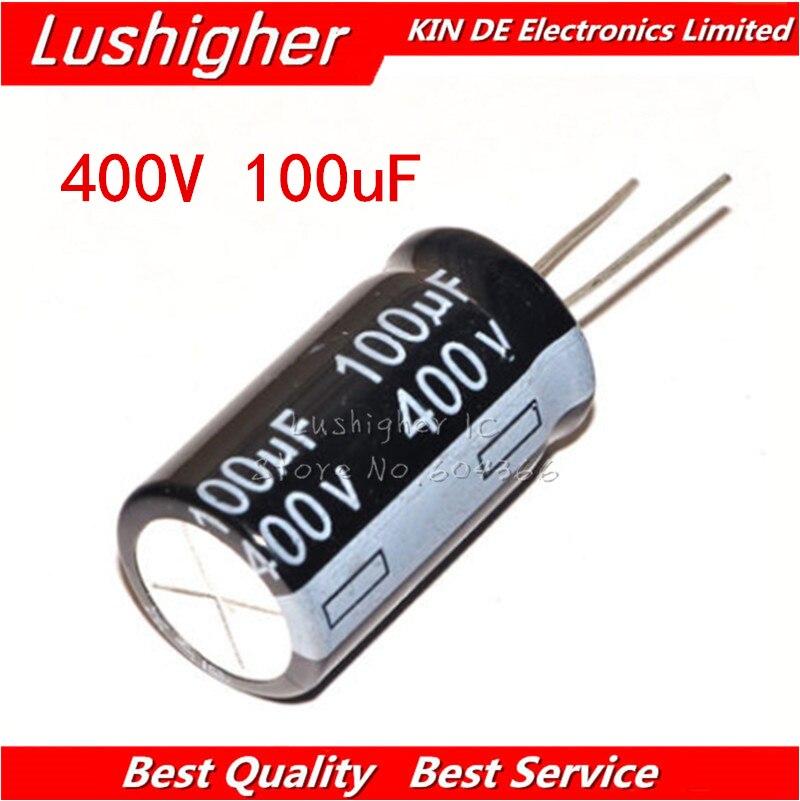 5PCS 400V100UF 18*30mm 100UF 400V 18x30 Mm Aluminum Electrolytic Capacitor DIP