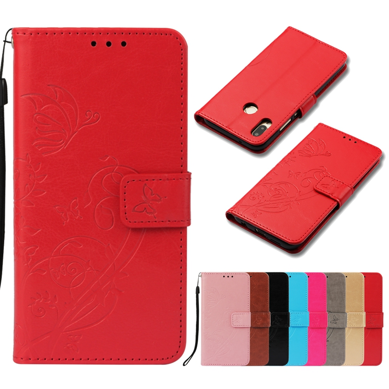 phone cover for xiaomi redmi note5 6 pro 4A 4X 6 6a case for xiaomi A1 5x Embossed butterfly protective mobile phone case coque in Flip Cases from Cellphones Telecommunications
