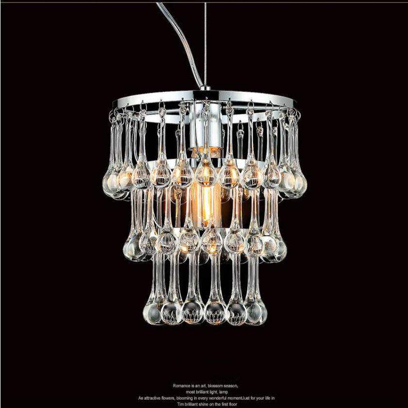 Free shipping cheaper price clear LED k9 crystal pendant light cottage countryside rural dinning lamp/W22cm H24cm hanging lamp free shipping modern led pendant light d80cm pendant lamp clear crystal stainless steel 90 265v suspension lamp dinning pendant