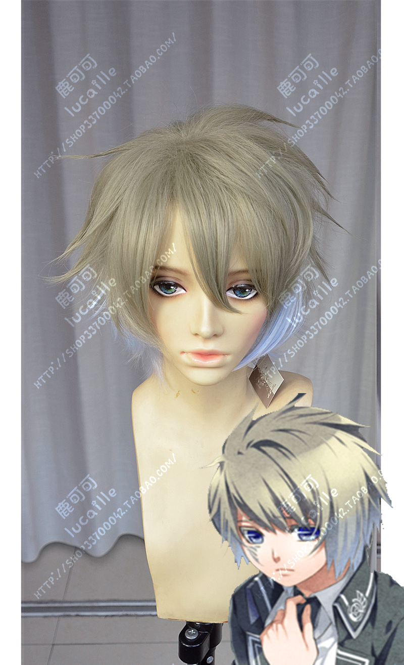 Anime NORN9 Ichinose Senri Cosplay Wig Short Heat Resistant Synthetic Hair Wigs + Wig Cap