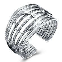 GOMAYA S925 Sterling Silver Bangles Jewelry Wholesale Thai  Round Handmade New Female Opening Bracelets