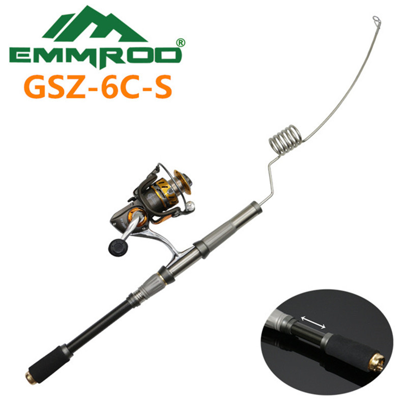The New 2016 EMMROD elastic Fishing Combo Stainless Steel Rod Road and Boat Fishing Rafts fishing Rocky GSZ-6C-S 2016 new emmrod stainless packer baitcasting fishing rod combo casting pole ocean boat fishing rod ocean fishing by emmrod