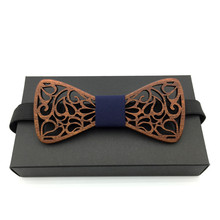 fake collar Wood Bow Tie Mens Wooden Ties Gravatas Corbatas Business Butterfly Cravat Party For Men
