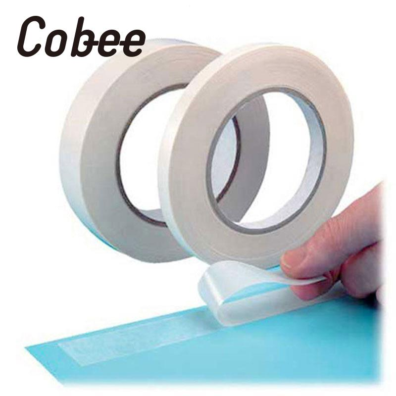 Cobee 20mmx7M High Viscosity Double Sided Strong Adhesive Tape Office Sticky Sticker 1 pcs deli 2 4cm 10y super slim strong adhesion white double sided tape doubles faced adhesive for office supplies