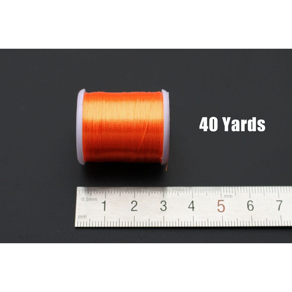 20 colors Small Glitter Tinsel Thread 40 yards fishing fly tying tinsel line