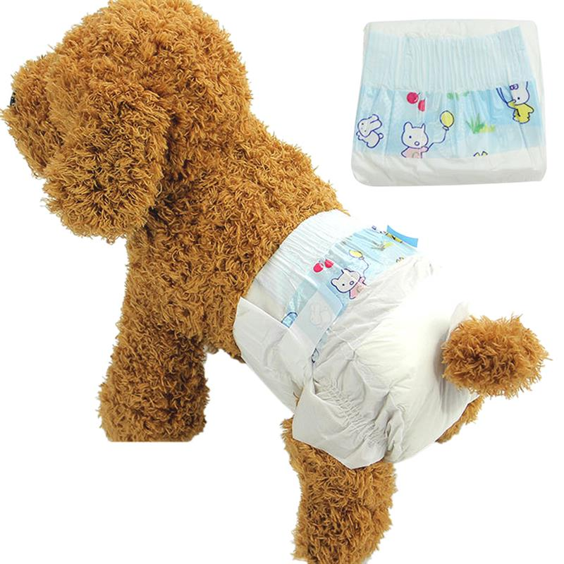 10Pcs Dog Diapers Disposable Breathable Dog Wraps Dog Belly Bands for Dogs Puppies