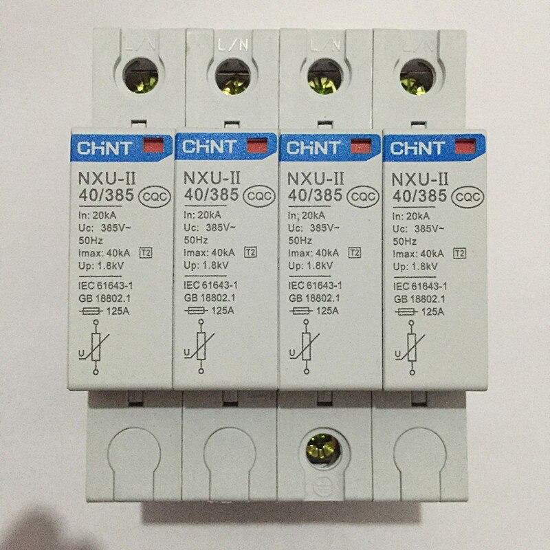 цена на CHINT Surge Protective Device 1P 2P 3P 4P 15kA 40KA 65KA 100KA NXU-II 40/385 Surge Arrester Protect electric system 385V AC