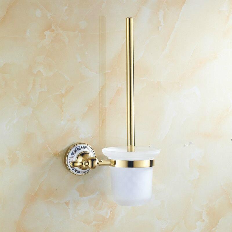 ФОТО Golden stainless steel Toilet Brush Holders Bathroom Accessories hardwares toilet vanity 50130