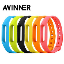 AWINNER Wearable para Xiaomi Mi banda Smart Wristband Silicone Replace Belt Strap Mi banda pulsera para MI Smart Wristband 1