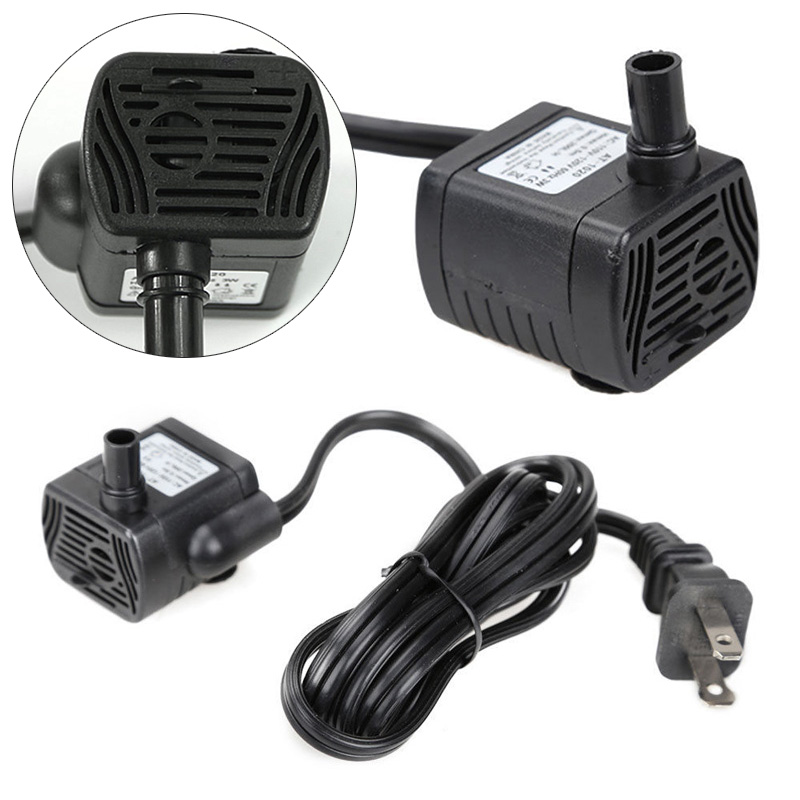Mini AC 220V 3W Submersible Water Pump Aquarium Fountain Air Fish Tank Pond Water Pump EU Plug 220v/US Plug 110v Mayitr ...